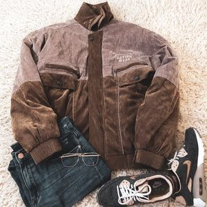 Action wear vintage 1980s jacket tan and blush